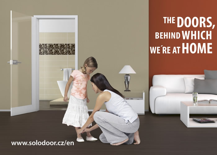 The doors, behind which you are at home